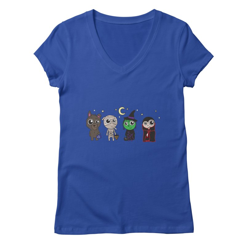 Happy Halloween! Women's Regular V-Neck by LLUMA Creative Design