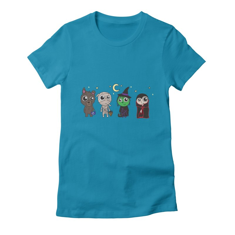Happy Halloween! Women's Fitted T-Shirt by LLUMA Creative Design