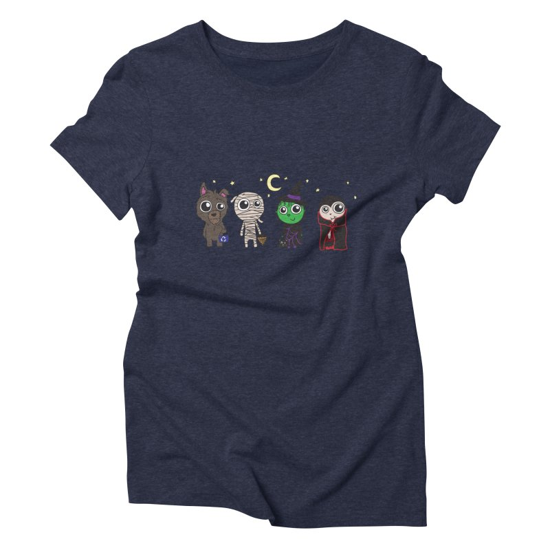 Happy Halloween! Women's Triblend T-Shirt by LLUMA Creative Design