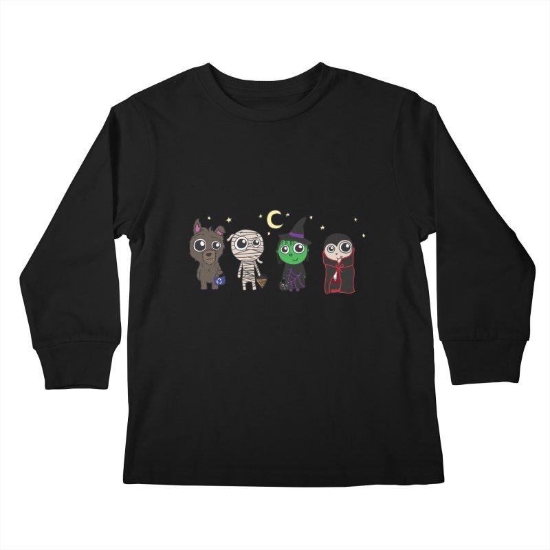 Happy Halloween! Kids Longsleeve T-Shirt by LLUMA Creative Design
