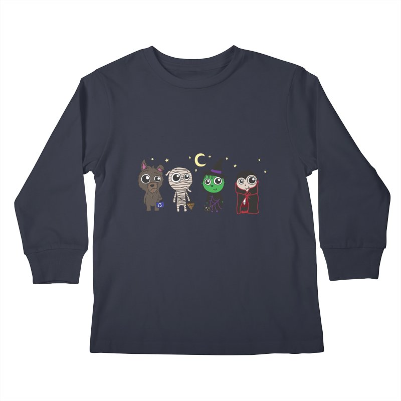 Happy Halloween! Kids Longsleeve T-Shirt by LLUMA Creative Design