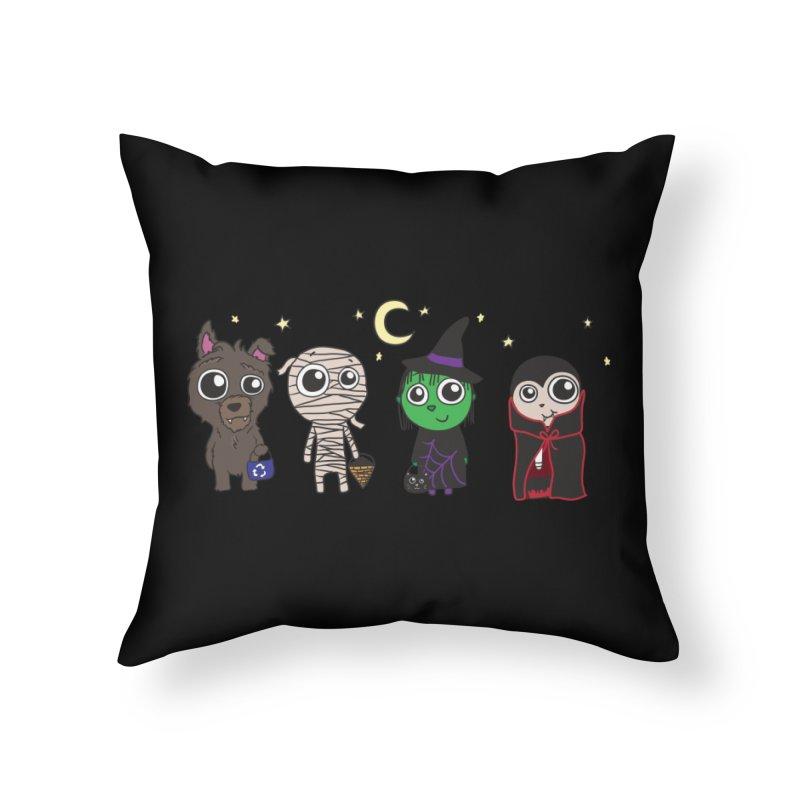 Happy Halloween! Home Throw Pillow by LLUMA Creative Design
