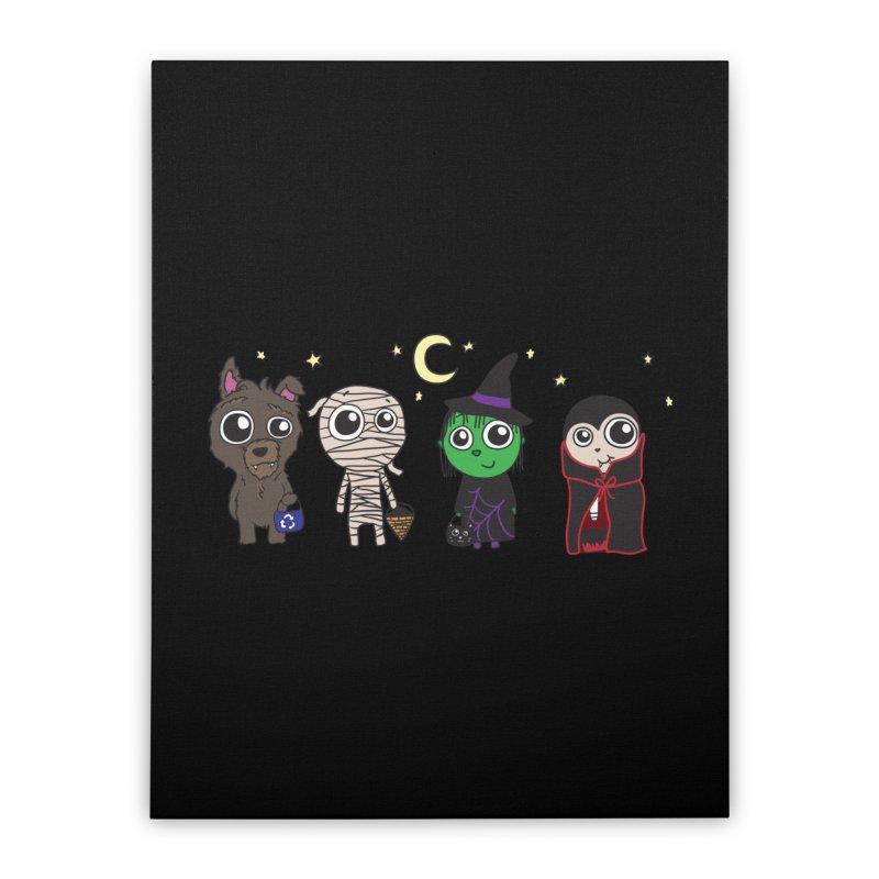 Happy Halloween! Home Stretched Canvas by LLUMA Creative Design