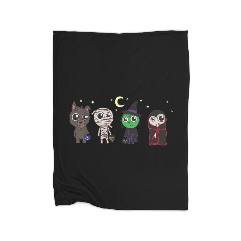 Happy Halloween! Home Fleece Blanket Blanket by LLUMA Creative Design