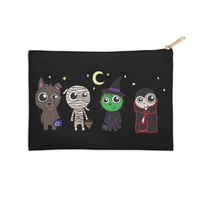 Happy Halloween! Accessories Zip Pouch by LLUMA Creative Design