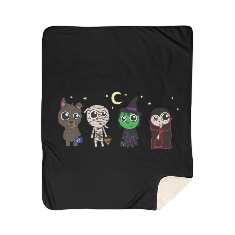 Happy Halloween! Home Sherpa Blanket Blanket by LLUMA Creative Design