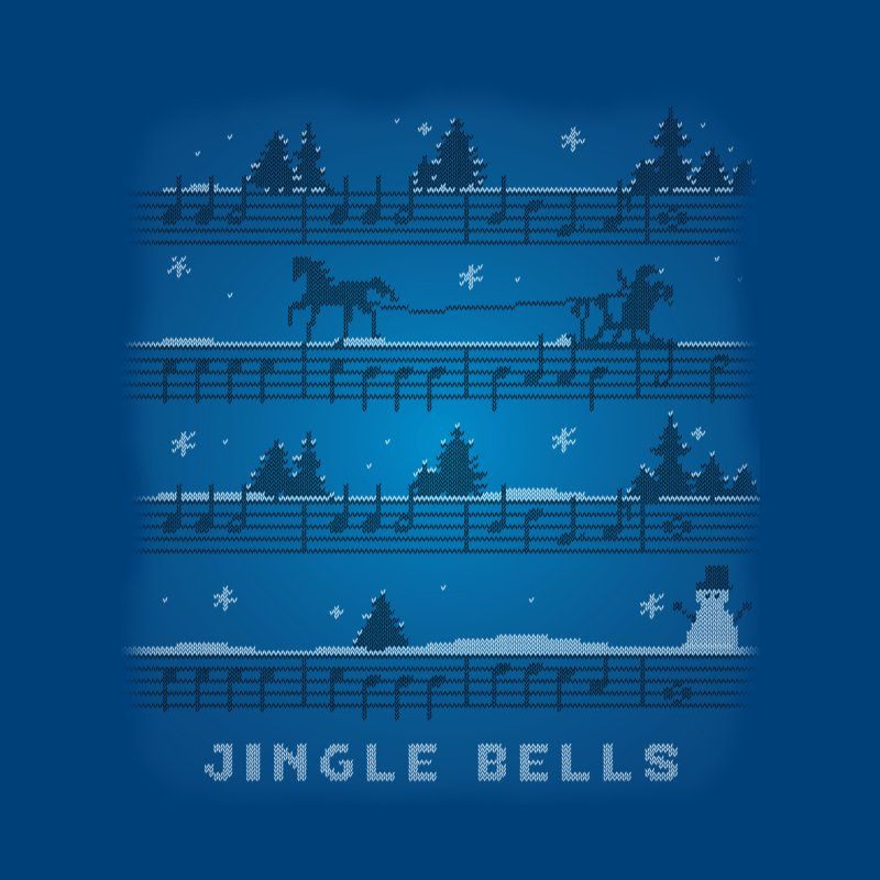 Jingle Bells Knit Men's T-Shirt by LLUMA Creative Design