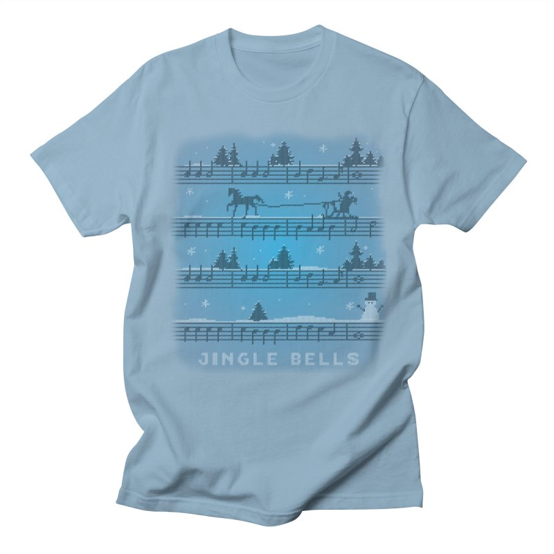 Jingle Bells Knit Men's Regular T-Shirt by LLUMA Creative Design