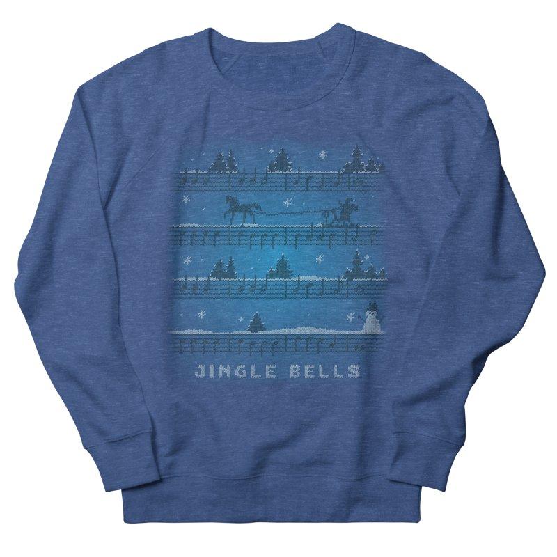 Jingle Bells Knit Women's French Terry Sweatshirt by LLUMA Creative Design