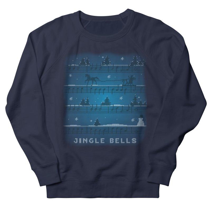 Jingle Bells Knit Men's French Terry Sweatshirt by LLUMA Creative Design