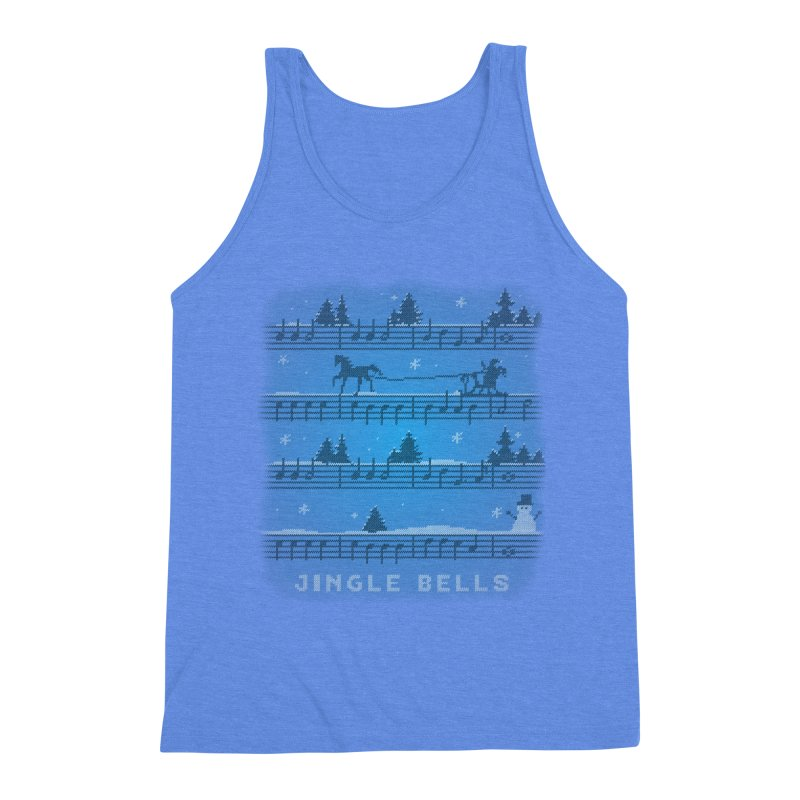 Jingle Bells Knit Men's Triblend Tank by LLUMA Creative Design