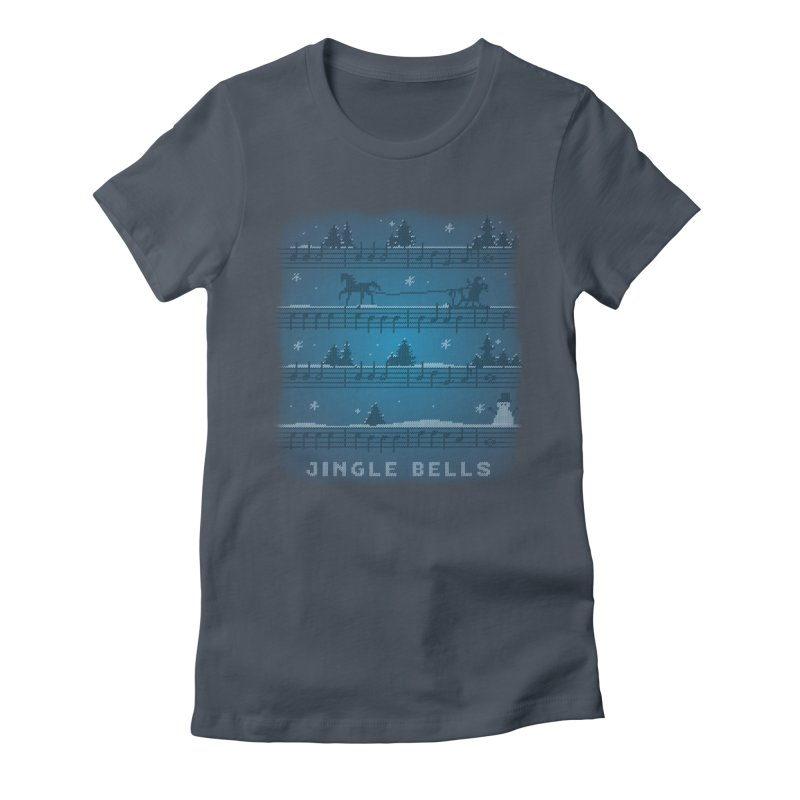 Jingle Bells Knit Women's T-Shirt by LLUMA Creative Design