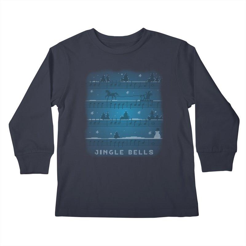 Jingle Bells Knit Kids Longsleeve T-Shirt by LLUMA Creative Design