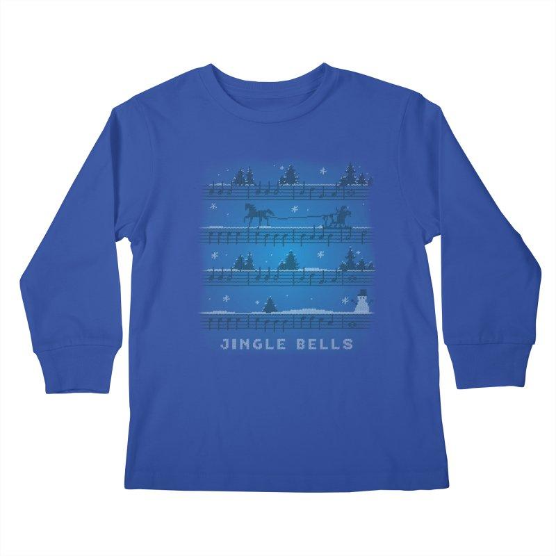 Jingle Bells Knit Kids Longsleeve T-Shirt by LLUMA Design