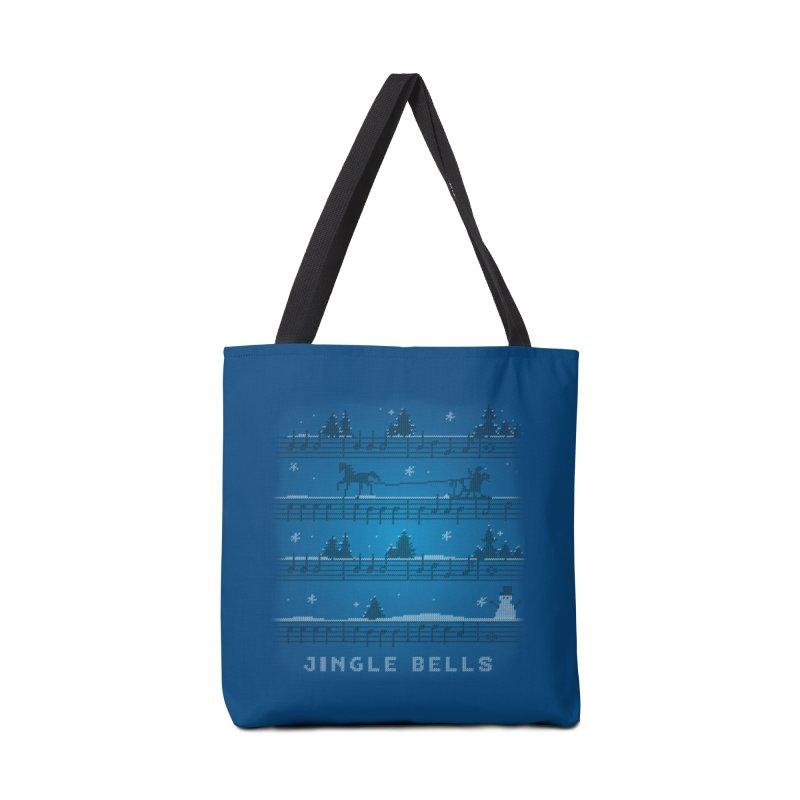 Jingle Bells Knit Accessories Bag by LLUMA Design