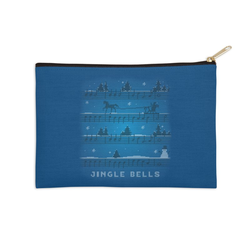 Jingle Bells Knit Accessories Zip Pouch by LLUMA Creative Design