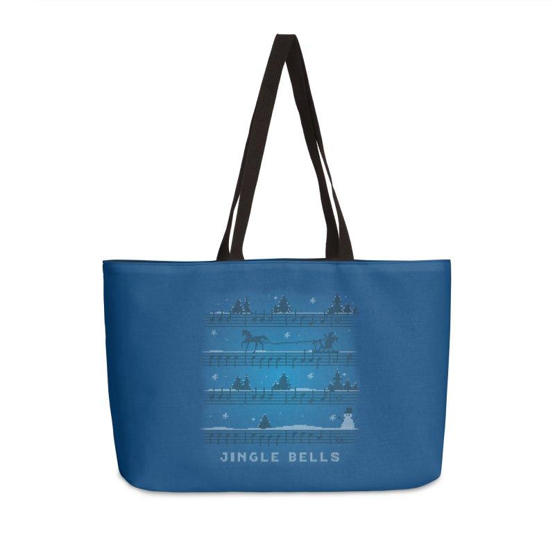 Jingle Bells Knit Accessories Weekender Bag Bag by LLUMA Creative Design