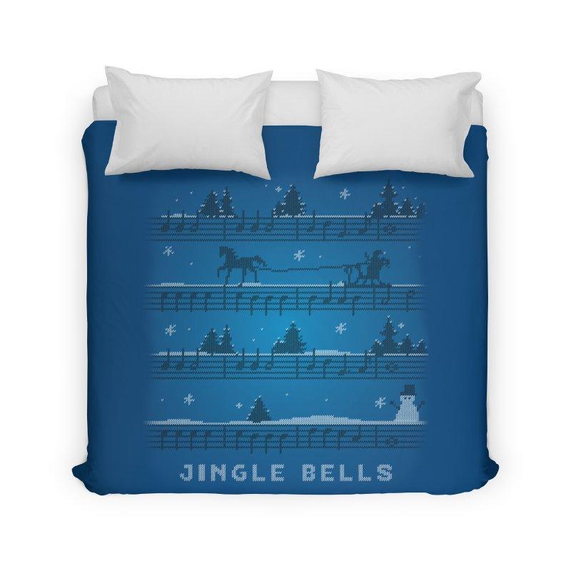 Jingle Bells Knit Home Duvet by LLUMA Creative Design