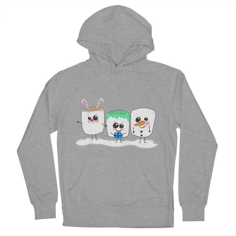 Festive Marshmallows Women's Pullover Hoody by LLUMA Creative Design