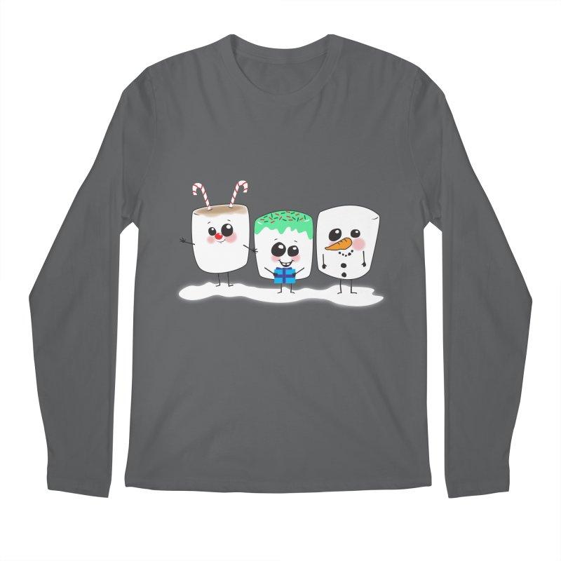 Festive Marshmallows Men's Longsleeve T-Shirt by LLUMA Creative Design