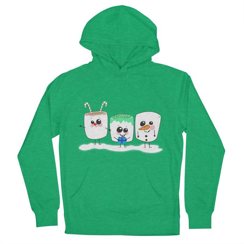 Festive Marshmallows Women's Pullover Hoody by LLUMA Design