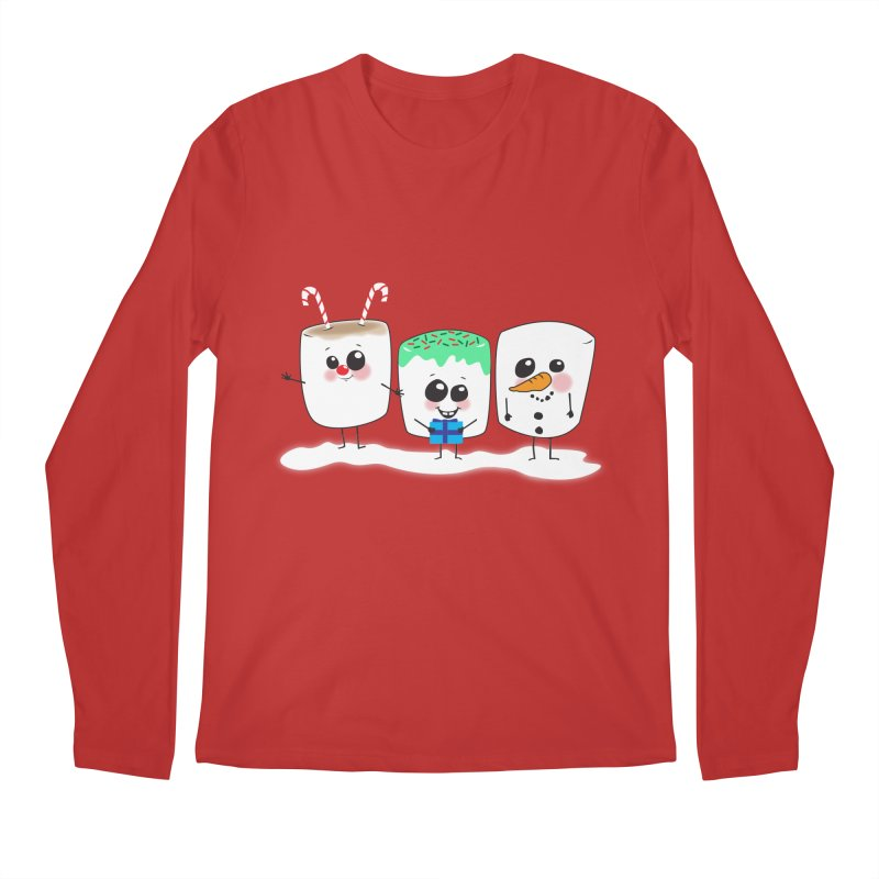 Festive Marshmallows Men's Regular Longsleeve T-Shirt by LLUMA Creative Design