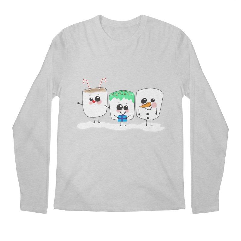 Festive Marshmallows Men's Regular Longsleeve T-Shirt by LLUMA Creative Design