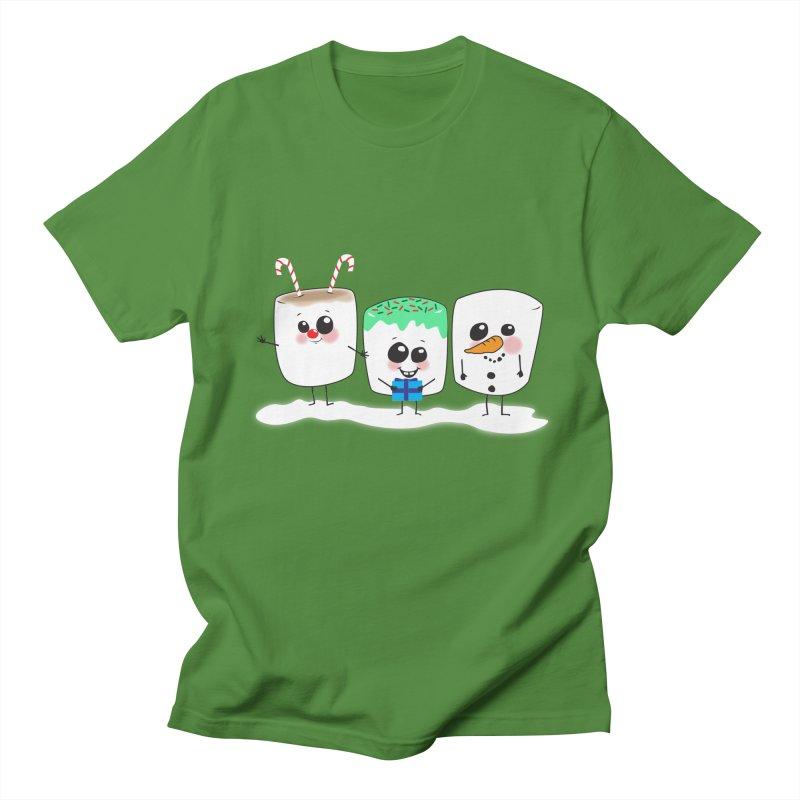Festive Marshmallows Women's Regular Unisex T-Shirt by LLUMA Creative Design