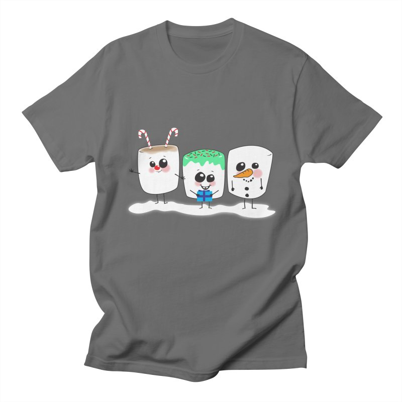 Festive Marshmallows Men's T-Shirt by LLUMA Creative Design