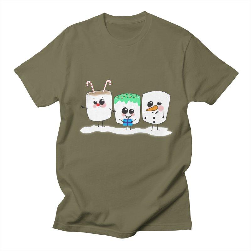 Festive Marshmallows Men's Regular T-Shirt by LLUMA Creative Design