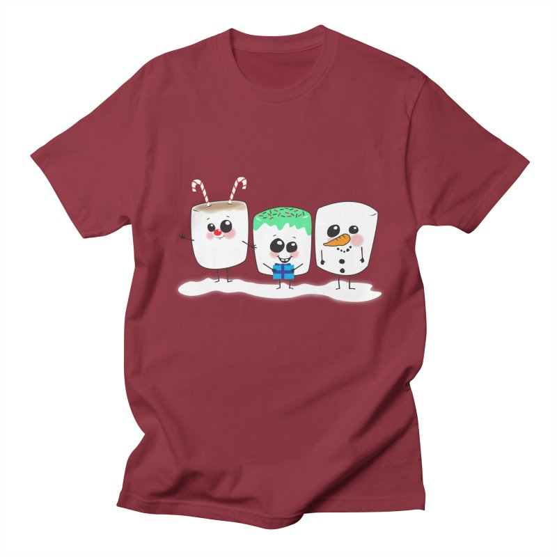Festive Marshmallows Women's Regular Unisex T-Shirt by LLUMA Creative Design