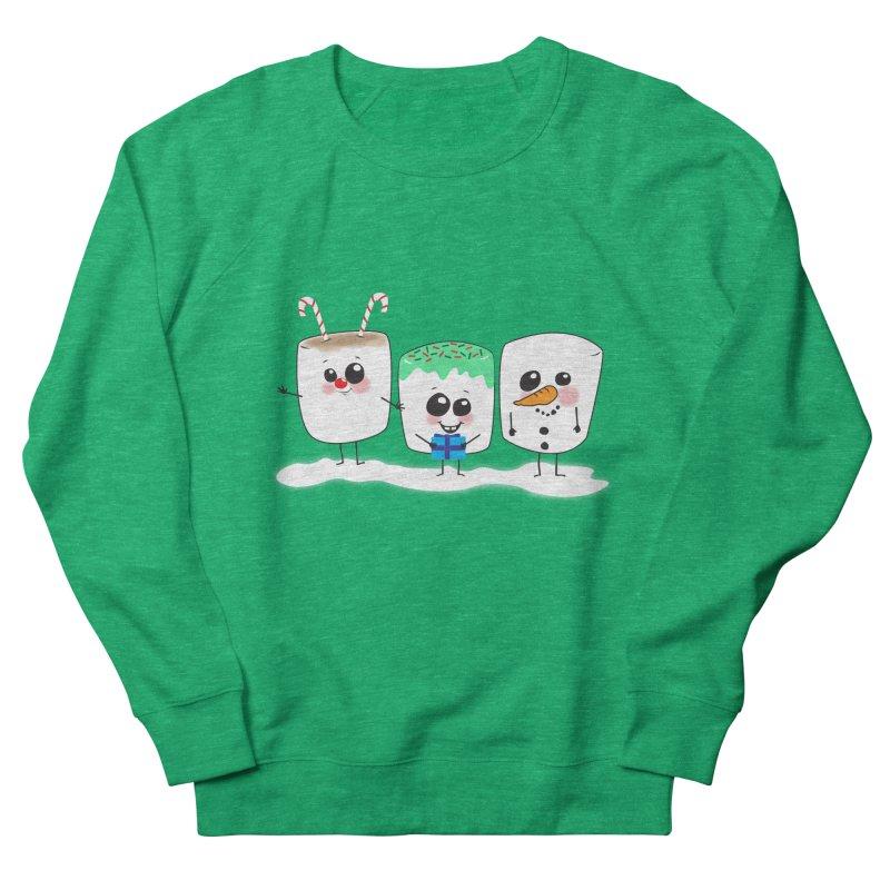 Festive Marshmallows Women's French Terry Sweatshirt by LLUMA Creative Design