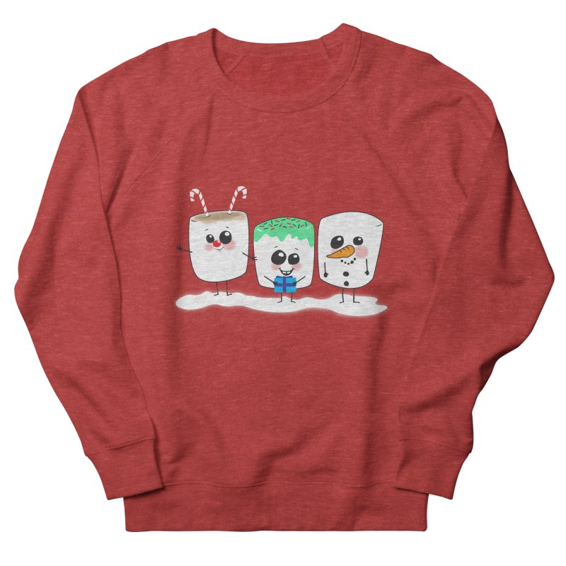 Festive Marshmallows Women's Sweatshirt by LLUMA Design