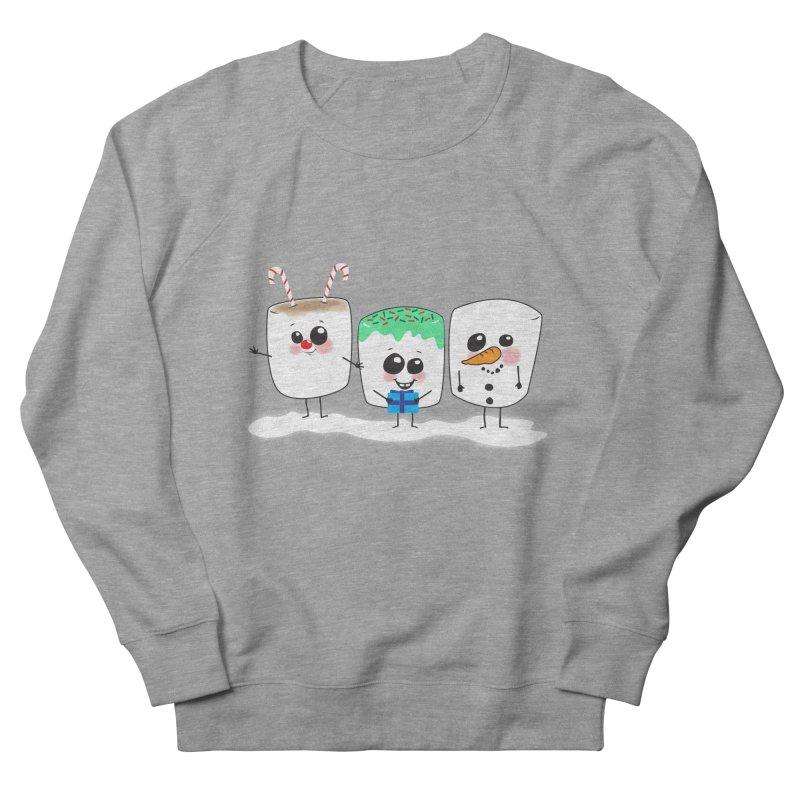 Festive Marshmallows Men's French Terry Sweatshirt by LLUMA Creative Design