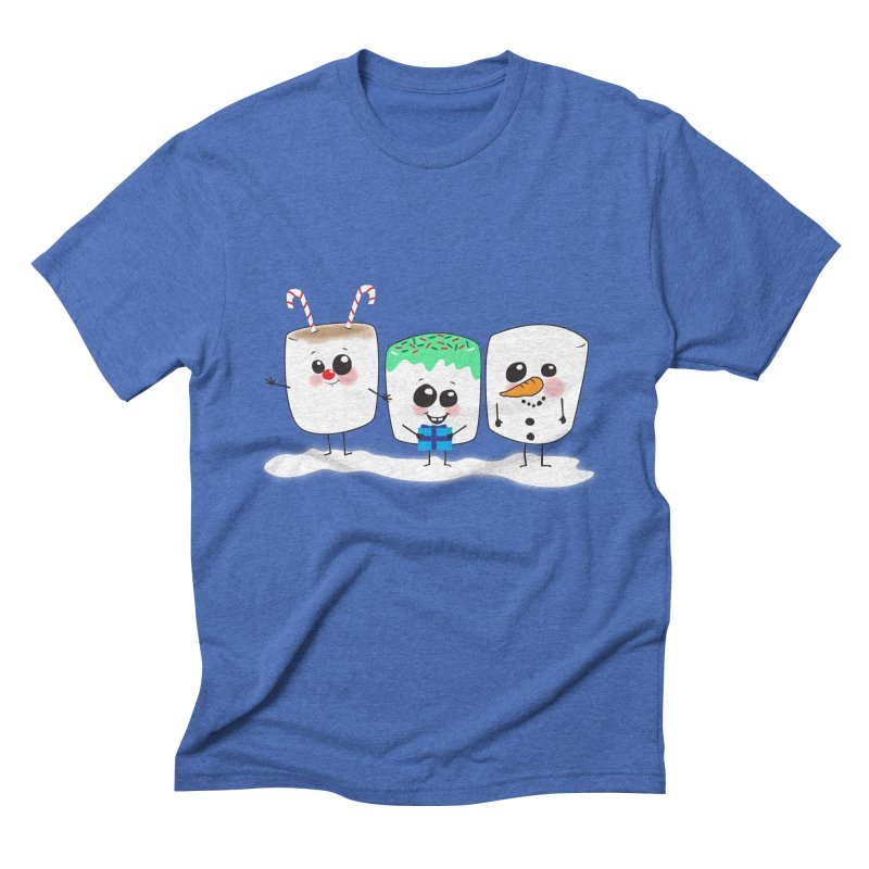Festive Marshmallows Men's Triblend T-Shirt by LLUMA Design