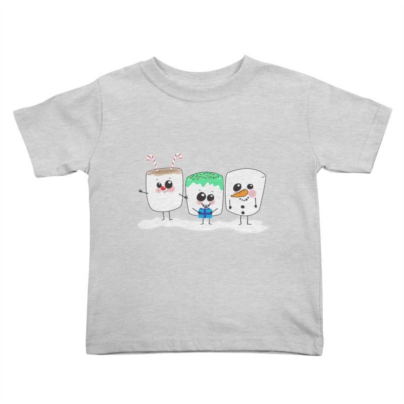 Festive Marshmallows Kids Toddler T-Shirt by LLUMA Creative Design