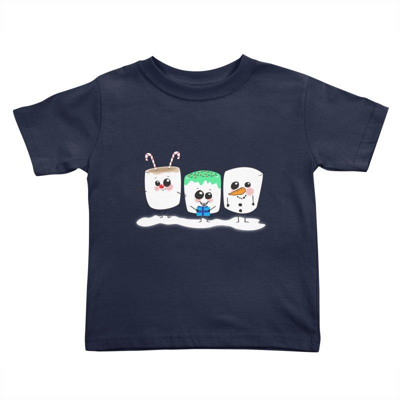 Festive Marshmallows Kids Toddler T-Shirt by LLUMA Creative Design