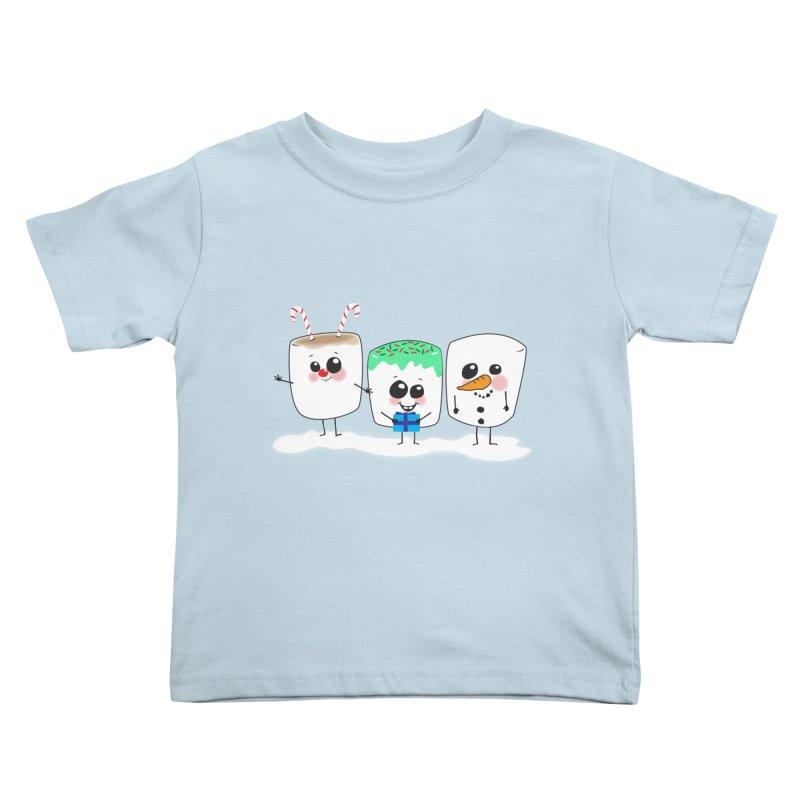 Festive Marshmallows Kids Toddler T-Shirt by LLUMA Design