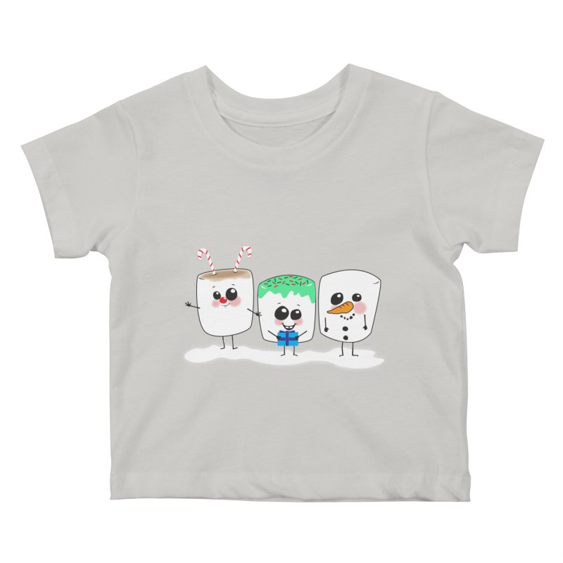 Festive Marshmallows Kids Baby T-Shirt by LLUMA Design