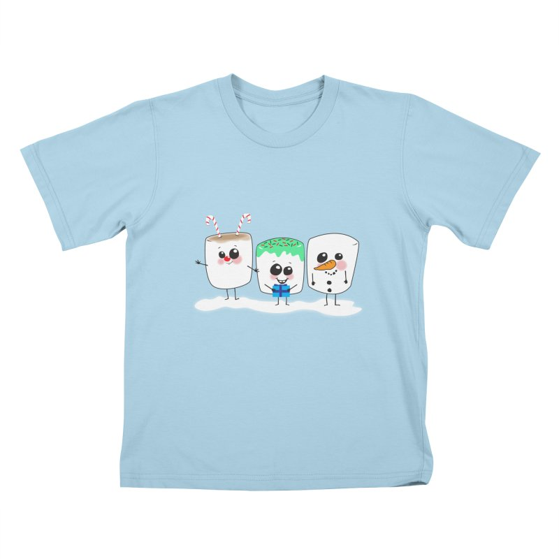 Festive Marshmallows Kids T-Shirt by LLUMA Creative Design