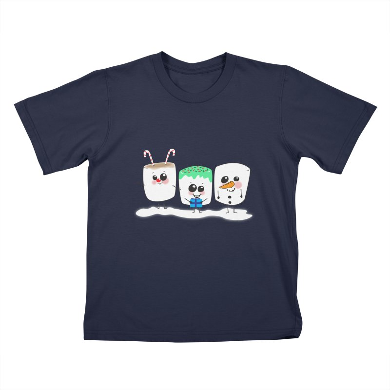 Festive Marshmallows Kids T-Shirt by LLUMA Creative Design