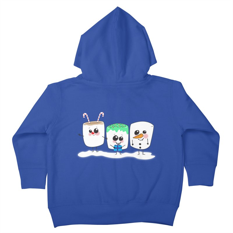Festive Marshmallows Kids Toddler Zip-Up Hoody by LLUMA Creative Design
