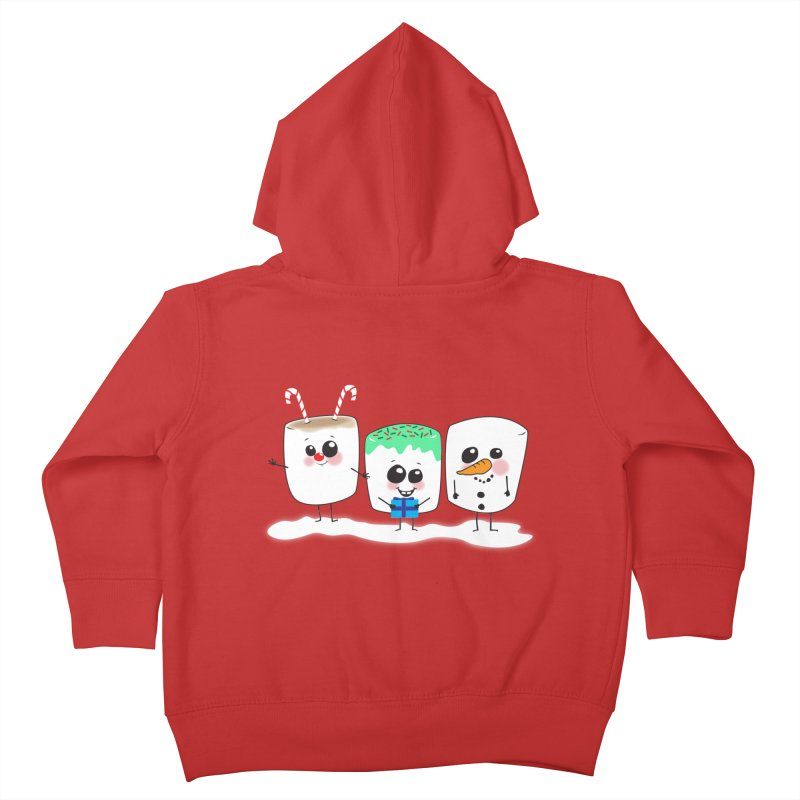 Festive Marshmallows Kids Toddler Zip-Up Hoody by LLUMA Creative Design