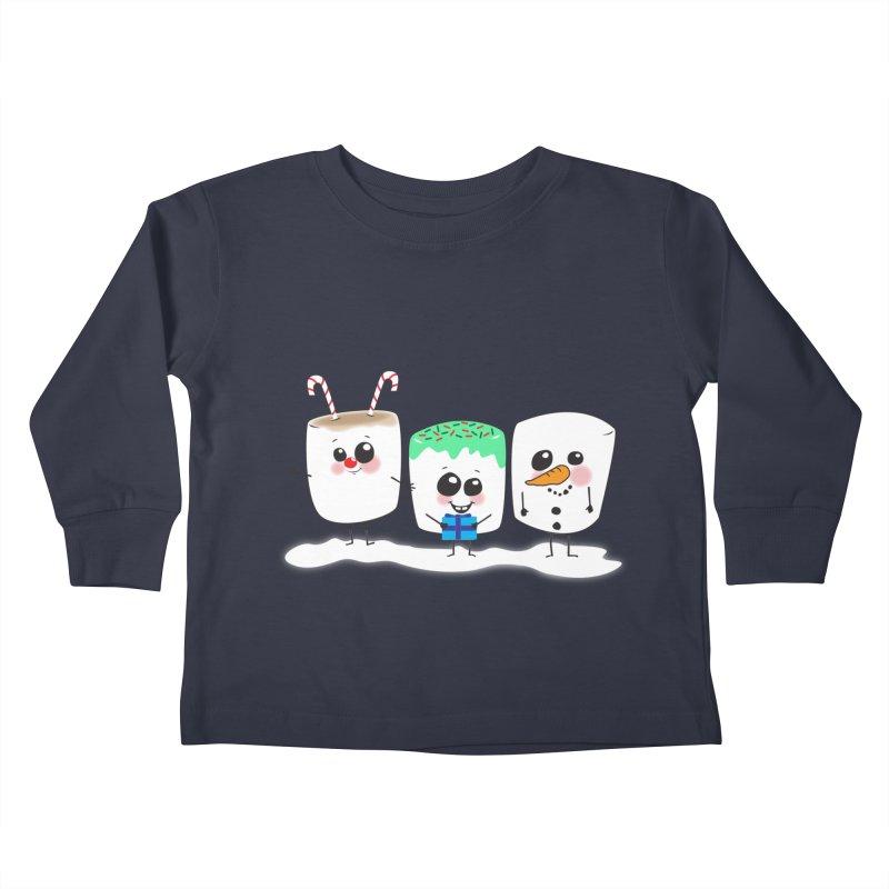 Festive Marshmallows Kids Toddler Longsleeve T-Shirt by LLUMA Creative Design