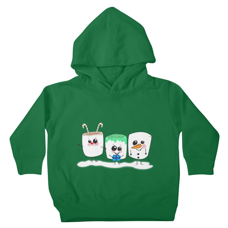 Festive Marshmallows Kids Toddler Pullover Hoody by LLUMA Design