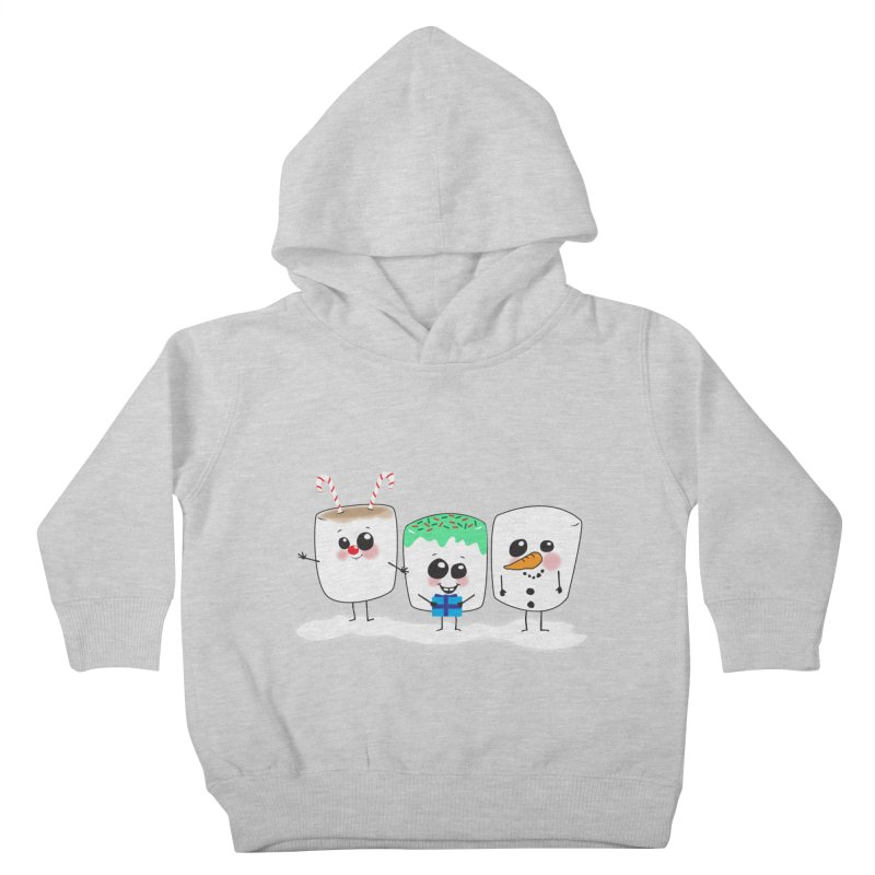 Festive Marshmallows Kids Toddler Pullover Hoody by LLUMA Creative Design
