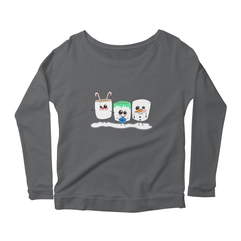 Festive Marshmallows Women's Longsleeve T-Shirt by LLUMA Creative Design