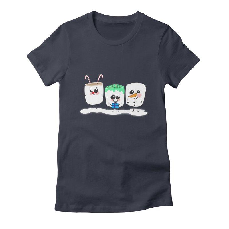 Festive Marshmallows Women's Fitted T-Shirt by LLUMA Design