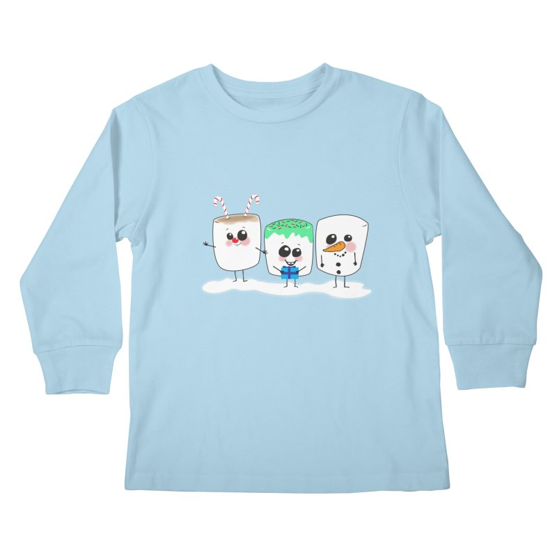 Festive Marshmallows Kids Longsleeve T-Shirt by LLUMA Creative Design
