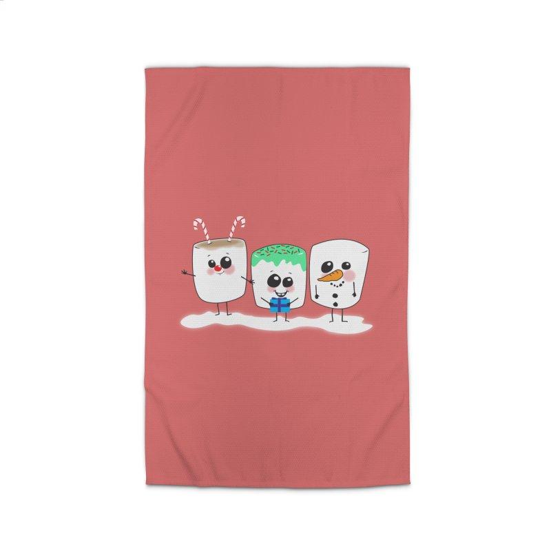 Festive Marshmallows Home Rug by LLUMA Design